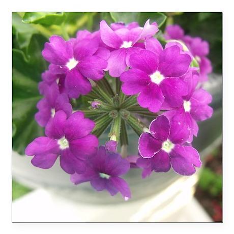 """little purple bouquet Square Car Magnet 3"""" x 3"""""""