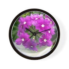 little purple bouquet Wall Clock