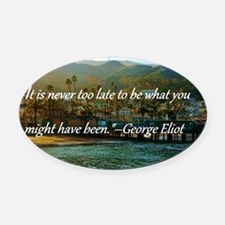 Catalina Pier w/Quote Oval Car Magnet