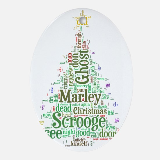 A Christmas Carol Word Cloud Oval Ornament