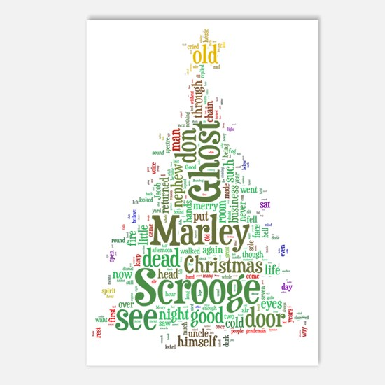 A Christmas Carol Word Cl Postcards (Package of 8)