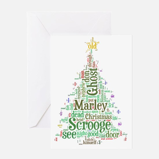 A Christmas Carol Word Cloud Greeting Card