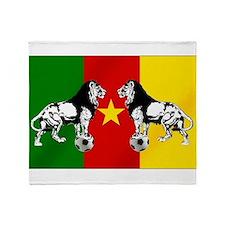 Cameroon Football Flag Throw Blanket