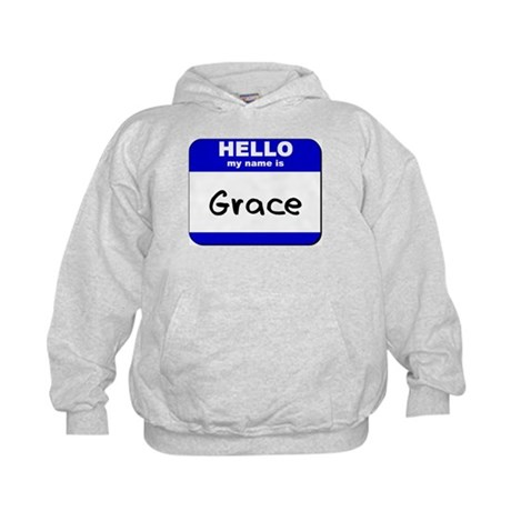 hello my name is grace Kids Hoodie