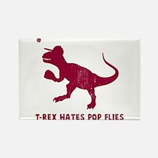 T-rex hates pop flies Rectangle Magnet