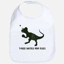 T-rex hates pop flies Bib