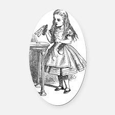 Drink Me vintage Alice in Wonderla Oval Car Magnet