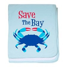 Save The Bay baby blanket
