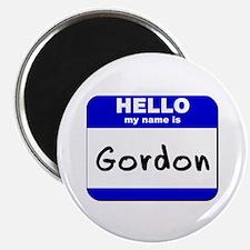 hello my name is gordon Magnet