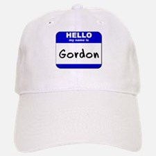 hello my name is gordon Baseball Baseball Cap