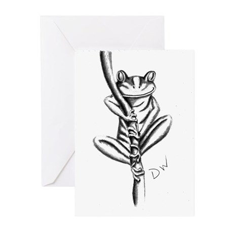 tree frog Greeting Cards (Pk of 10)