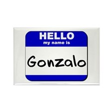hello my name is gonzalo Rectangle Magnet