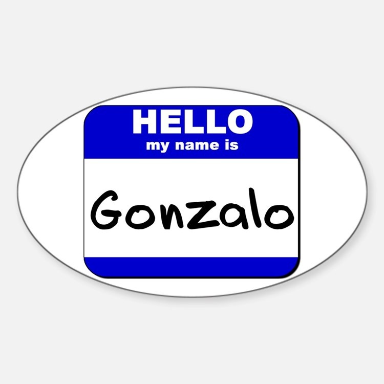 hello my name is gonzalo Oval Decal