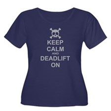 Keep Calm and Deadlift On Plus Size T-Shirt