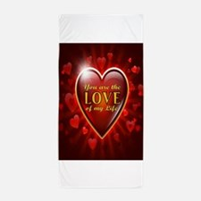 Cute Valentine%27s day for fiance Beach Towel
