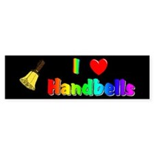I Love Handbells Black Bumper Bumper Sticker