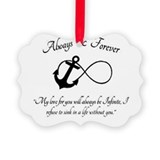 Infinity anchor Picture Frame Ornaments