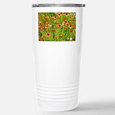 Orange echinacea flower Travel Mug