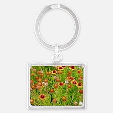 Orange echinacea flowers Landscape Keychain