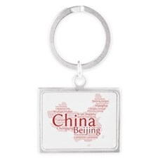 Chinese Cities Landscape Keychain