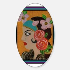 Florica Oval Decal