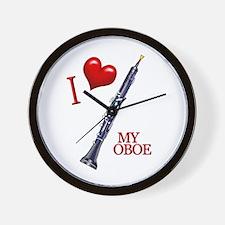 I Love My OBOE (2) Wall Clock