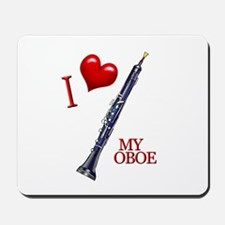 I Love My OBOE (2) Mousepad