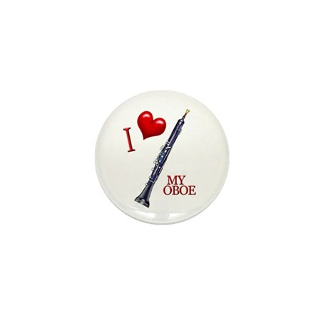 I Love My OBOE (2) Mini Button (10 pack)