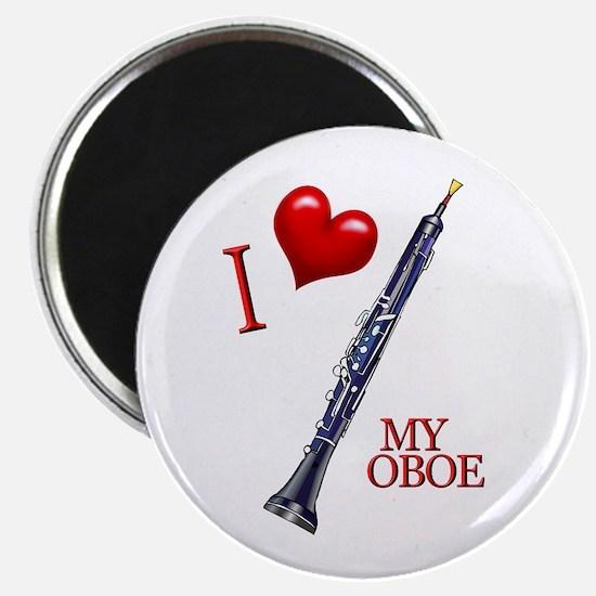 I Love My OBOE (2) Magnet