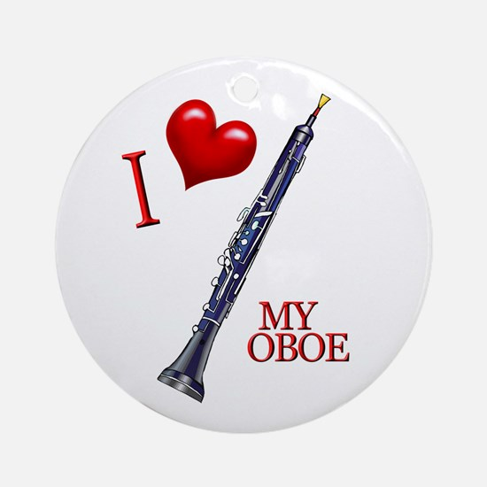 I Love My OBOE (2) Ornament (Round)