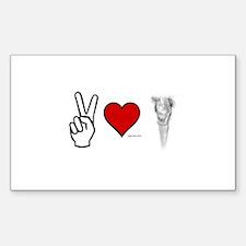 Peace, Love, Vape Sticker E-Cig Skin/Wrap