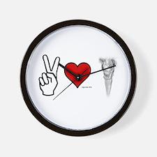 Peace, Love, Vape Wall Clock