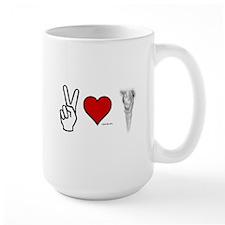 Peace, Love, Vape Mug