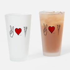 Peace, Love, Vape Drinking Glass
