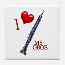 I Love My OBOE (2) Tile Coaster