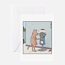 Mice Gumball machine Greeting Cards