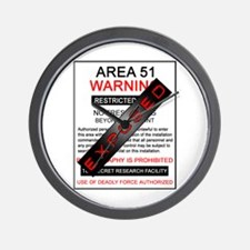 Area 51 Exposed Wall Clock
