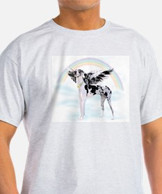 Harlequin Great Dane Angel RB T-Shirt