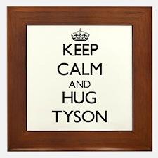 Keep calm and Hug Tyson Framed Tile