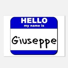 hello my name is giuseppe  Postcards (Package of 8