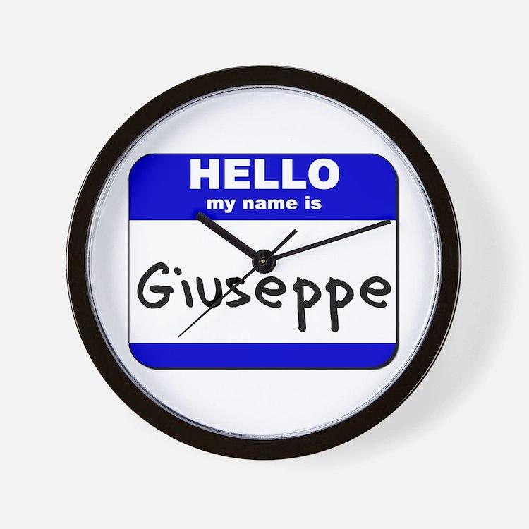 hello my name is giuseppe  Wall Clock