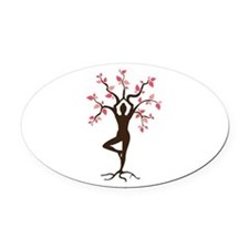 Yoga Oval Car Magnet