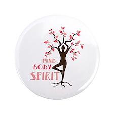 """MIND BODY SPIRIT 3.5"""" Button (100 pack)"""