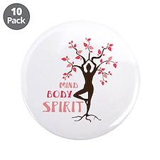 """MIND BODY SPIRIT 3.5"""" Button (10 pack)"""
