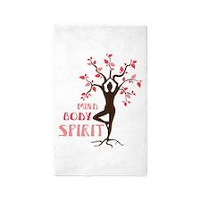 MIND BODY SPIRIT 3'x5' Area Rug