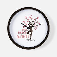 MIND BODY SPIRIT Wall Clock