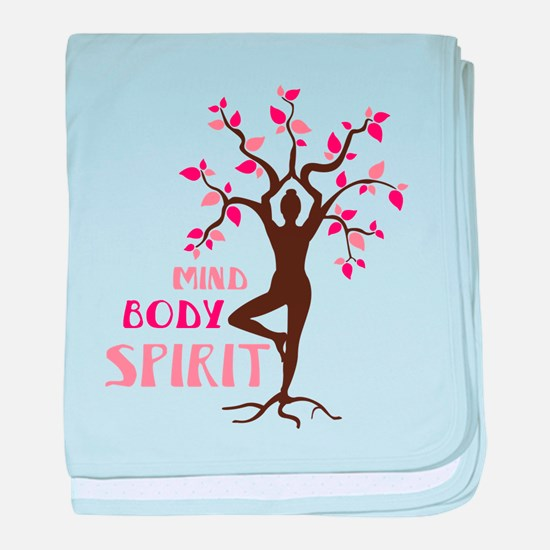MIND BODY SPIRIT baby blanket