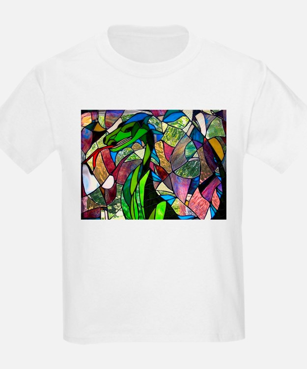 Mystic Dragon in Stained Glass T-Shirt
