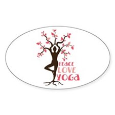 PEACE LOVE YOGA Bumper Stickers
