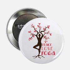 "PEACE LOVE YOGA 2.25"" Button (10 pack)"